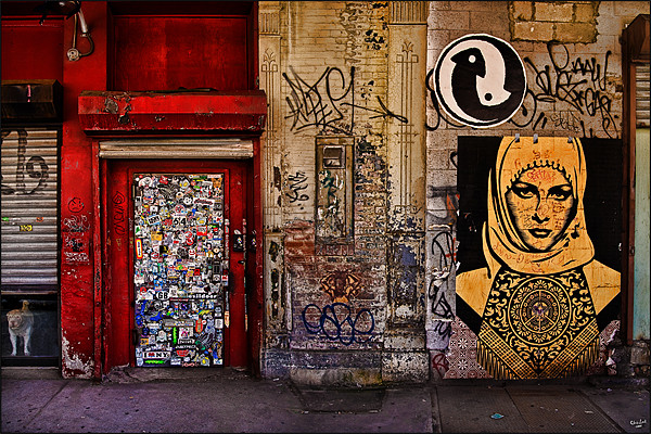 West Village Wall Canvas print by Chris Lord's Pixielated Pixels