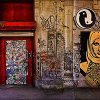 Buy canvas prints of West Village Wall by Chris Lord's Pixielated Pixels