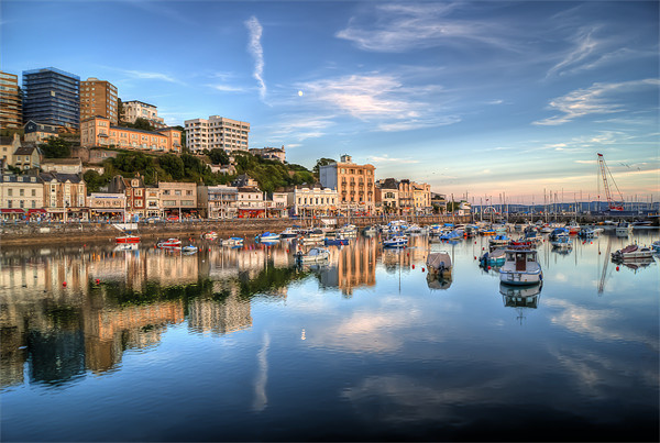 Torquay Harbour Reflections Devon Canvas print by Gerry Greer