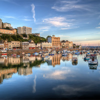 Buy canvas prints of Torquay Harbour Reflections Devon by Gerry Greer