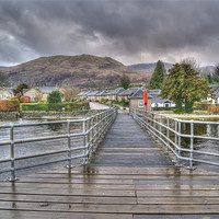 Buy canvas prints of Rainy Day in Luss by Gerry Greer