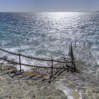 Buy canvas prints of Playa Blanca Steps Lanzarote by Gerry Greer