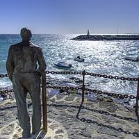 Buy canvas prints of Playa Blanca Statue by Gerry Greer