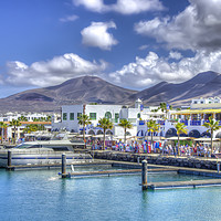 Buy canvas prints of Marina Rubicon Market Playa Blanca by Gerry Greer