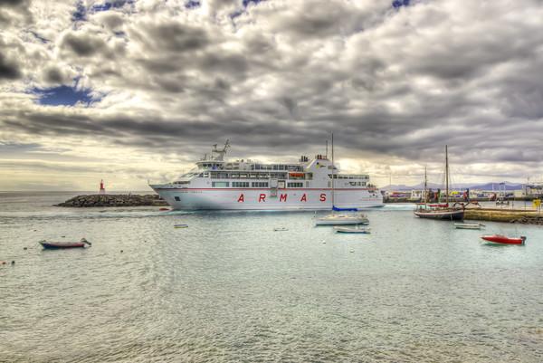 Playa Blanca Harbour Lanzarote Canvas print by Gerry Greer