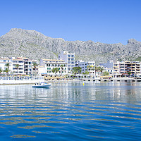 Buy canvas prints of Puerto Pollensa From The Harbour by Gerry Greer