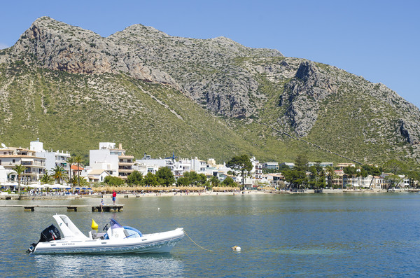 Puerto Pollensa Bay Framed Mounted Print by Gerry Greer