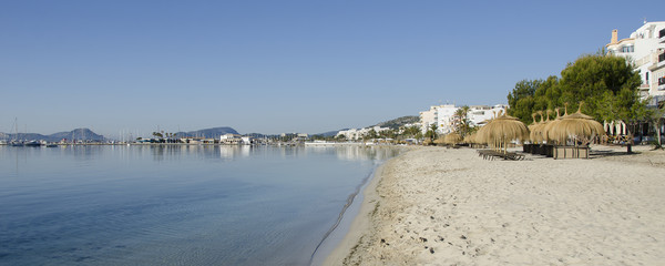 Puerto Pollensa Panorama Canvas print by Gerry Greer