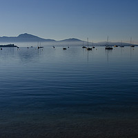 Buy canvas prints of Dawn In The Bay Of Pollensa by Gerry Greer