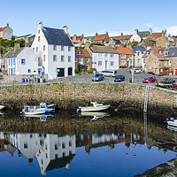 Buy canvas prints of Crail Harbour Artist by Gerry Greer