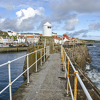 Buy canvas prints of Pittenweem Harbour Lighthouse by Gerry Greer