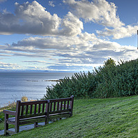 Buy canvas prints of Crail Castle Walk Bench by Gerry Greer