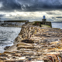 Buy canvas prints of Pittenweem Harbour Wall by Gerry Greer