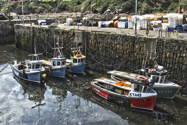 Boats In Crail Harbour Canvas print by Gerry Greer