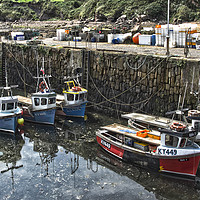 Buy canvas prints of Boats In Crail Harbour by Gerry Greer