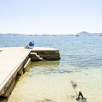 Buy canvas prints of Relaxing In Puerto Pollensa by Gerry Greer