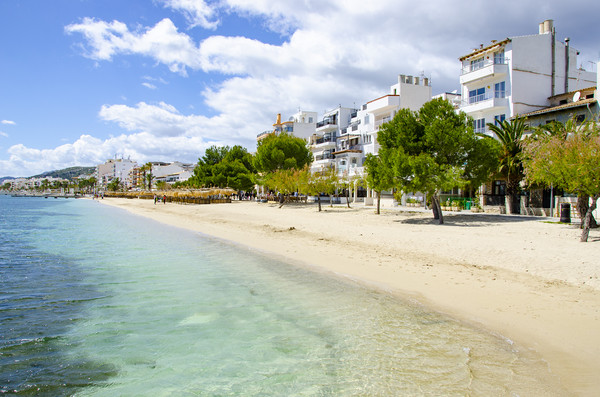 Quiet Beach On The Pine Walk Puerto Pollensa Canvas print by Gerry Greer
