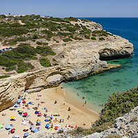 Buy canvas prints of Carvalho Beach The Algarve by Gerry Greer