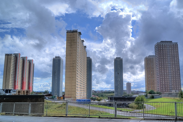 Glasgow The Red Road Flats Canvas print by Gerry Greer