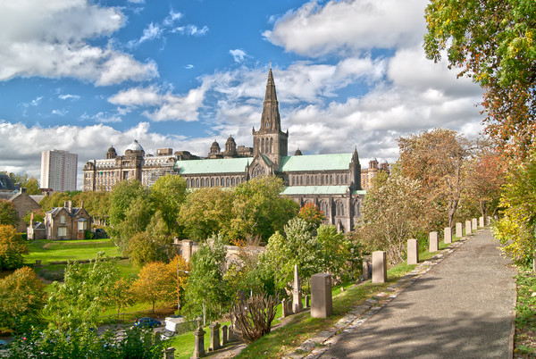 Glasgow Cathedral Scotland Canvas print by Gerry Greer
