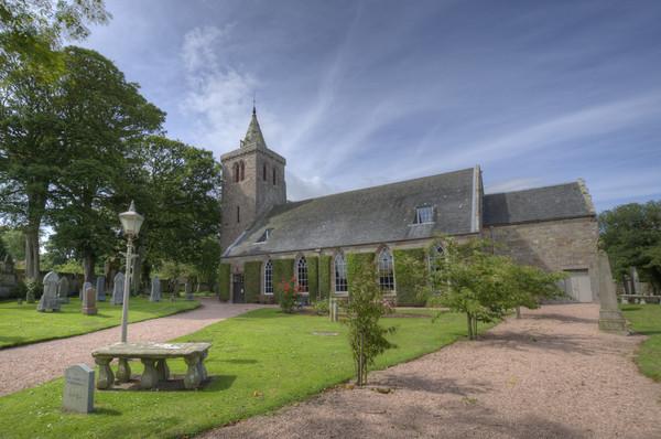 Crail Parish Church Scotland Acrylic by Gerry Greer
