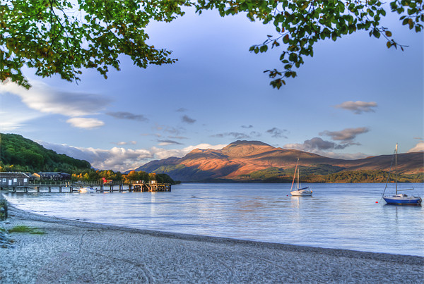 Loch Lomond at Luss From The Beach Canvas print by Gerry Greer