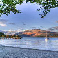 Buy canvas prints of Loch Lomond at Luss From The Beach by Gerry Greer