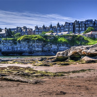 Buy canvas prints of The Scores, St Andrews, Fife- A Street on a Cliff. by Gerry Greer