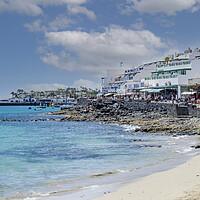 Buy canvas prints of Playa Blanca Town Promenade Lanzarote by Gerry Greer