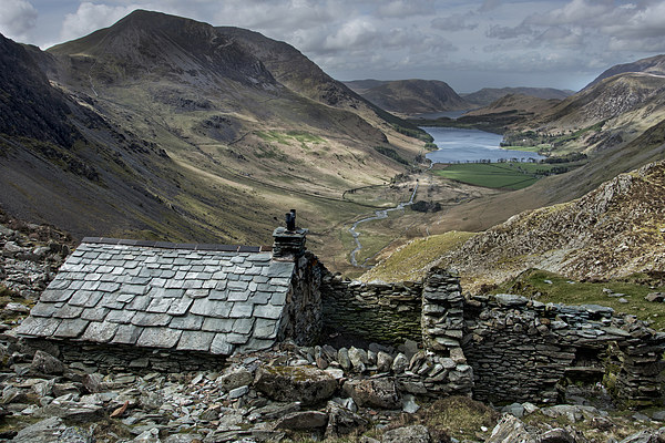 Old Quarry hut - Buttermere  Canvas print by Eddie John
