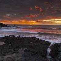 Buy canvas prints of Treyarnon point Cornwall by Eddie John