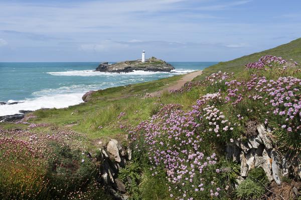 Godrevy lighthouse Cornwall Canvas print by Eddie John