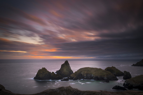 Cornwall sunset Canvas Print by Eddie John