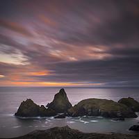 Buy canvas prints of Cornwall sunset by Eddie John