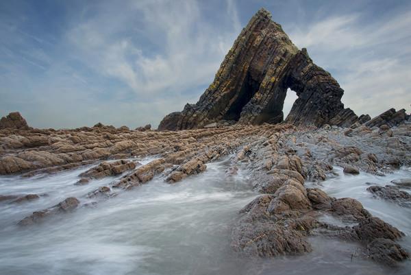 Blackchurch Rock -  north Devon Canvas Print by Eddie John