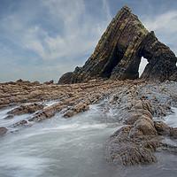 Buy canvas prints of Blackchurch Rock -  north Devon by Eddie John