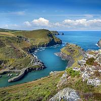 Buy canvas prints of Boscastle harbour Cornwall  by Eddie John