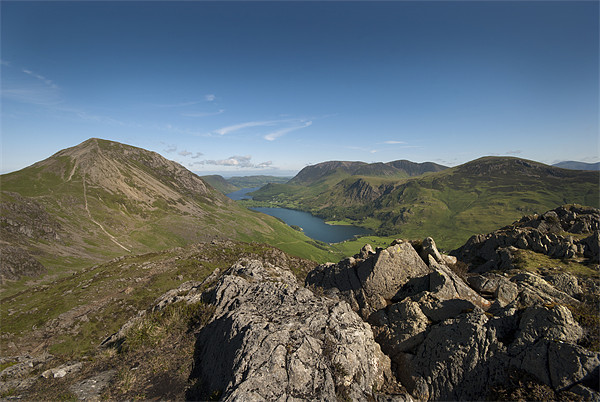 Buttermere from Haystacks Canvas print by Eddie John