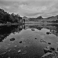 Buy canvas prints of Blea Tarn by John  Hare