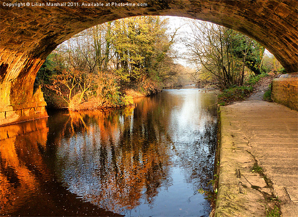 Under the Aquaduct. Canvas print by Lilian Marshall