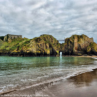 Buy canvas prints of St Catherines Island Tenby by Lilian Marshall