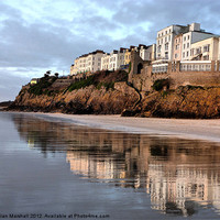Buy canvas prints of Reflections of Tenby. by Lilian Marshall