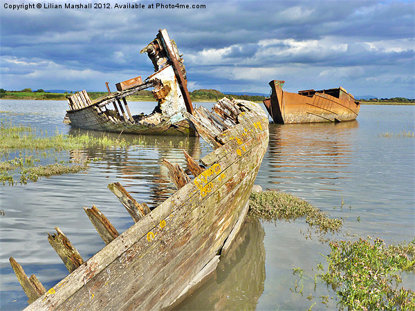 Decommissioned Trawlers. Canvas print by Lilian Marshall