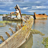 Buy canvas prints of Decommissioned Trawlers. by Lilian Marshall