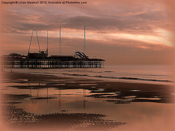 South Pier at Sunset Acrylic by Lilian Marshall
