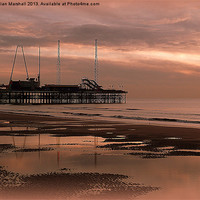 Buy canvas prints of South Pier at Sunset by Lilian Marshall