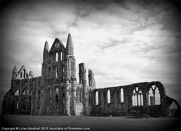Whitby Abbey. Canvas print by Lilian Marshall