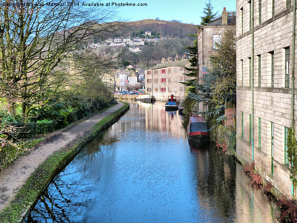 Rochdale Canal Canvas Print by Lilian Marshall