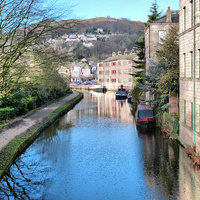 Buy canvas prints of  Rochdale Canal by Lilian Marshall
