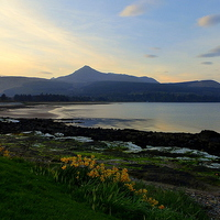 Buy canvas prints of Brodick Bay. by Lilian Marshall